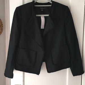 NWT Ann Taylor black tweed blazer jacket size M